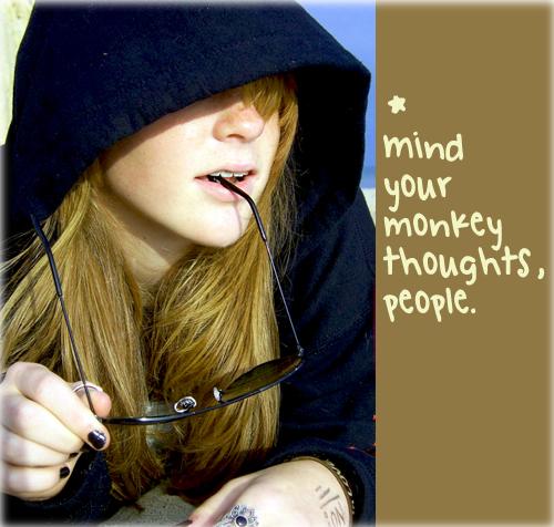 Monkey – thinking happy